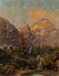 faggot gathers by an ancient wall (+ the snag by the mountain cascade; 2 works) by guido agostini