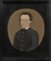 portrait of a boy with brown hair and blue eyes by american school-prior-hamblen (19)