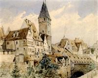 blick auf die malerische altstadt von schaffhausen(?) by max bach