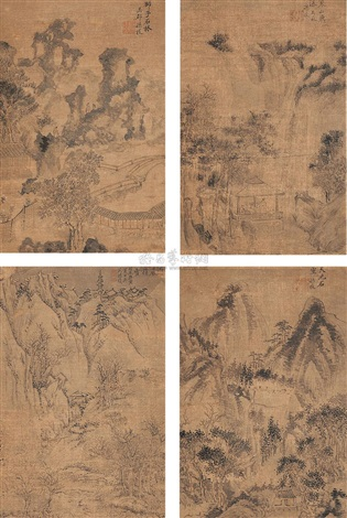 landscape album w8 works by sun zhi