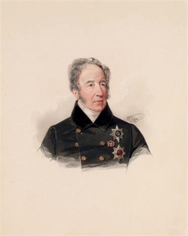 portrait of prince mikhail dmitrievich tsitsianov by vladimir ivanovich hau