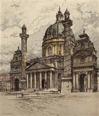 die karlskirche in wien by josef eidenberger