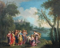 the finding of moses by ludovico gimignani