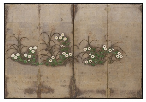 a four panel screen late 19thearly 20th century