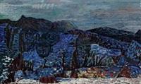 landscape, thingvellir, iceland by johannes kjarval