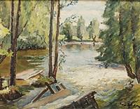 landskap med vattendrag by ture ander