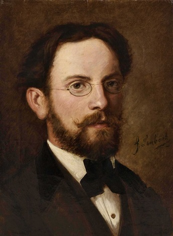 portrait eines herren mit brille by franz seraph von lenbach