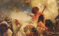 muse küsst kunst by wilhelm simmler