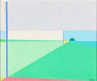 composition in green by vilhelm bjerke-petersen