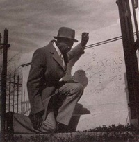thomas p. dorsay father of gospel, at mahalia jackson's grave in new orleans by michael p. smith
