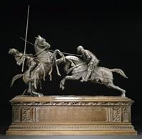 combat du duc de clarence et du chevalier de fontaine by alfred-emile o'hara nieuwerkerke