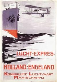 klm lucht-expres holland-engeland by h.g. brian de kruyff van dorssen