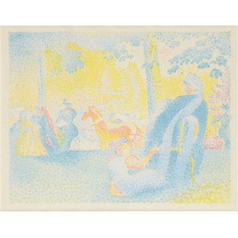 les champs elysees by henri edmond cross