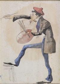 caricatura del pittore gelati by marco tricca
