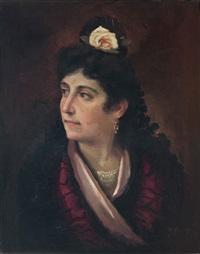 joven con mantilla de madroños by jose maria alarcon