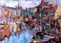 botes en el puerto by julián ibáñez de aldecoa