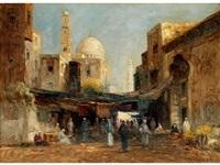 orientalischer markt in kairo by rudolf weber