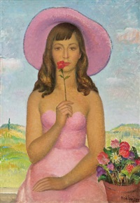 cappello rosa by noel quintavalle
