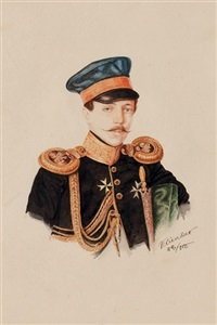 portrait of an officer by alexander julius klünder
