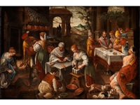 zubereitung des mahls eines patriziers by francesco bassano the younger