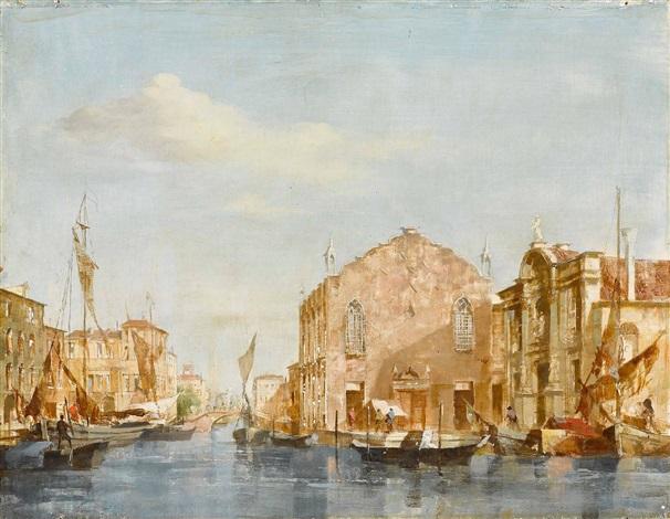 venedig blick vom canal grande auf s maria della salute by conrad hoff