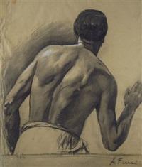 figura di spalle by achille funi