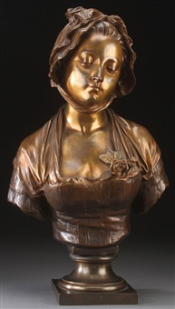 bust of a young maiden by eugène laurent