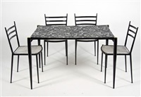 a table and four chairs (set of 5) by lloyd loom furniture