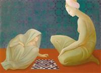 jeux de dames - pari de zobeide by leonor fini
