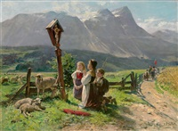am wegkreuz by karl böker