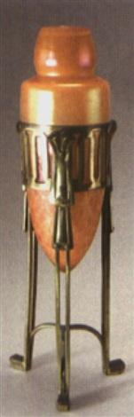vase mit messingmontierung by ferdinand von poschinger