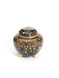 koro (incense burner) and cover by jubei ando