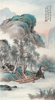 渔家乐 立轴 纸本 by wu qingxia