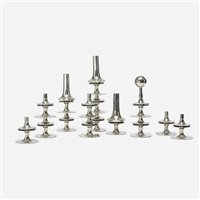 collection of candle holders (set of 16) by caesar stoffi