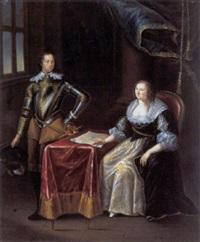interieur met edelman en echtgenote by joseph dorn