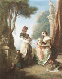die bettlerin by jean marius fouque