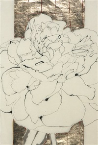 white peony and white peony ii (2 works) by robert kushner