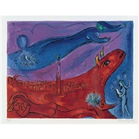 la bastille by marc chagall