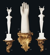 candlesticks (pair) by oriel harwood