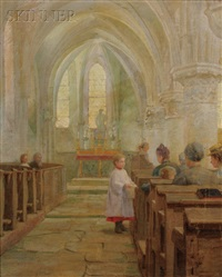 old stone church interior, la chapelle by lee lufkin kaula