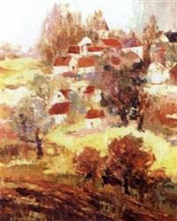 continental village landscape by julián ibáñez de aldecoa