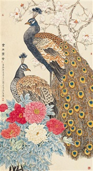 flowers and birds by guo ziliang