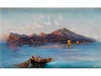 capri mit fischerbooten by augusto corelli