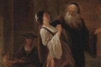 die verstoßung der hagar by johann christian von mannlich