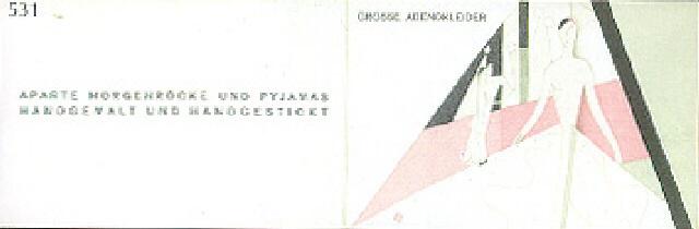 werbebroschüre für die modeabteilung der weiner werkstätte by max snischek