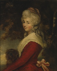 portrait of a lady, said to be lady carlyle by joshua reynolds