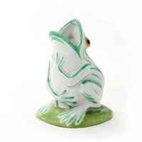 vase modelled in the shape of a frog by edouard marcel sandoz