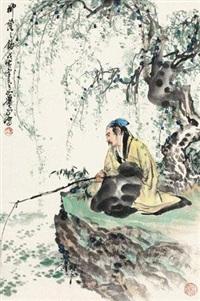 柳荫之钓 by xiao ping