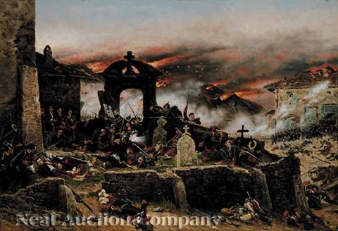 battle of gravelotte cemetary of st privat august 18 1870 by alphonse marie de neuville