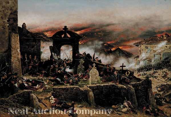 battle of gravelotte cemetary of st privat august 18 1870 by alphonse marie de neuville